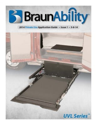 BraunAbility UVL Application Guide