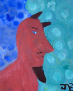 Josh Blue Devil Painting