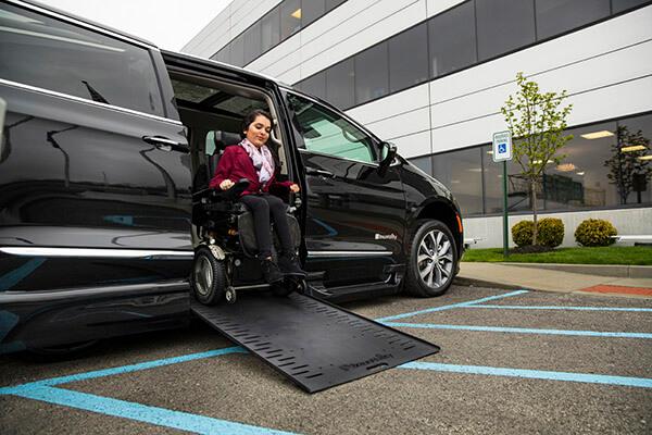handicap van with ramp out