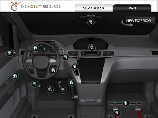 wheelchair van interior details